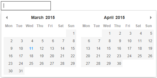 javascript calendar for website