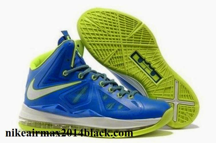 Authentic 2013 Cheap Nike Zoom Lebron 10 X Mens Shoes To Buy Green