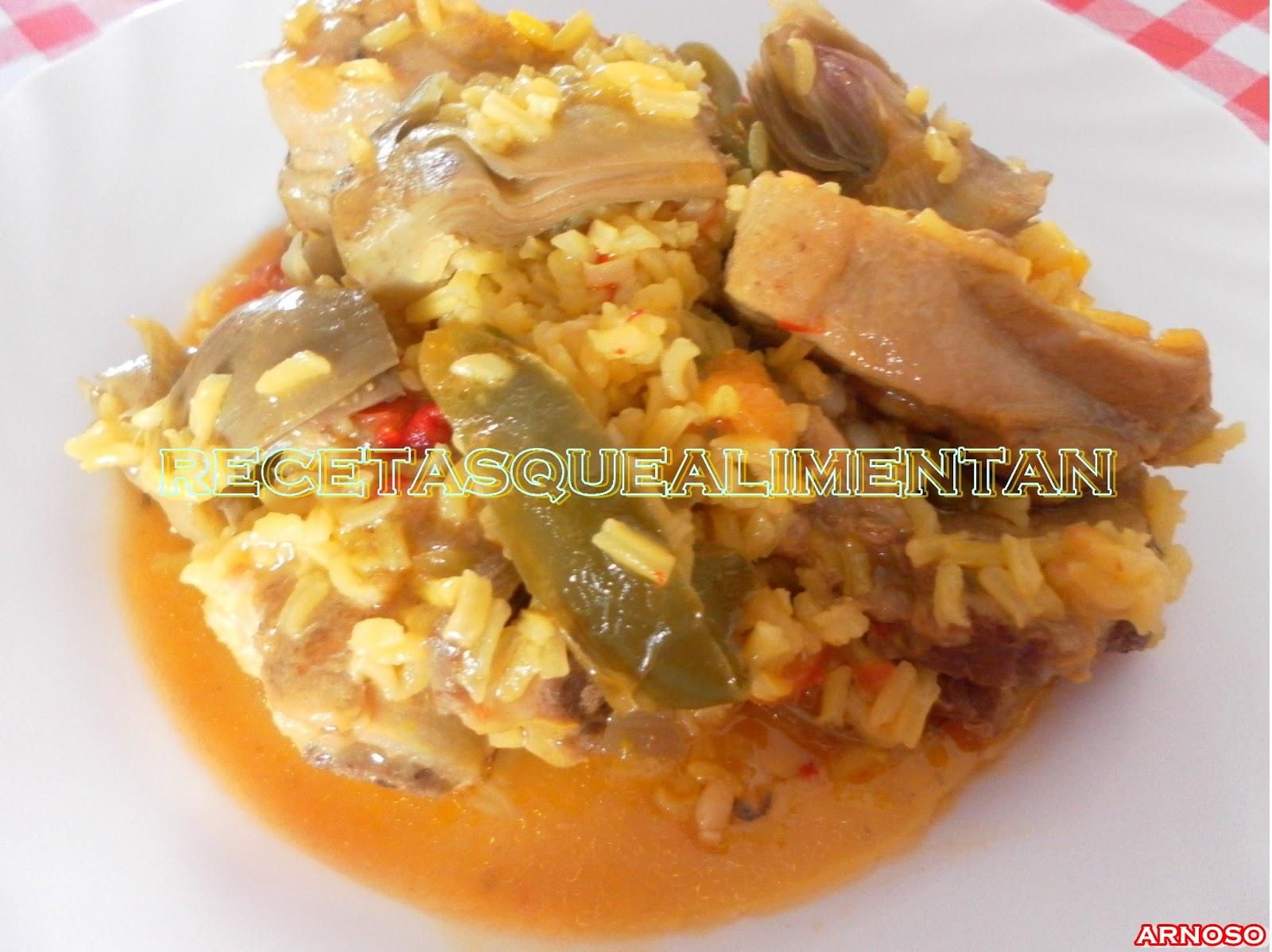 Recetas que alimentan gastronom a salud y consumo - Arroz caldoso con costillas y alcachofas ...