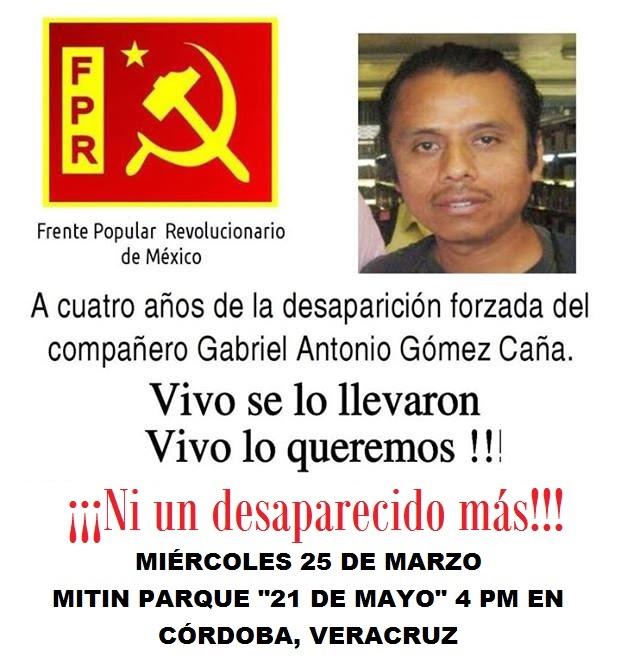 "Miércoles 25 de marzo 4 pm CÓRDOBA Parque ""21 de mayo"""