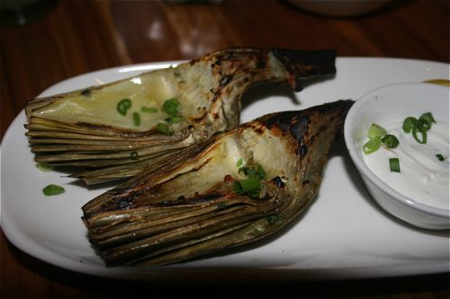 Grilled Artichokes with Lemon Aioli was definitely shareable by all.