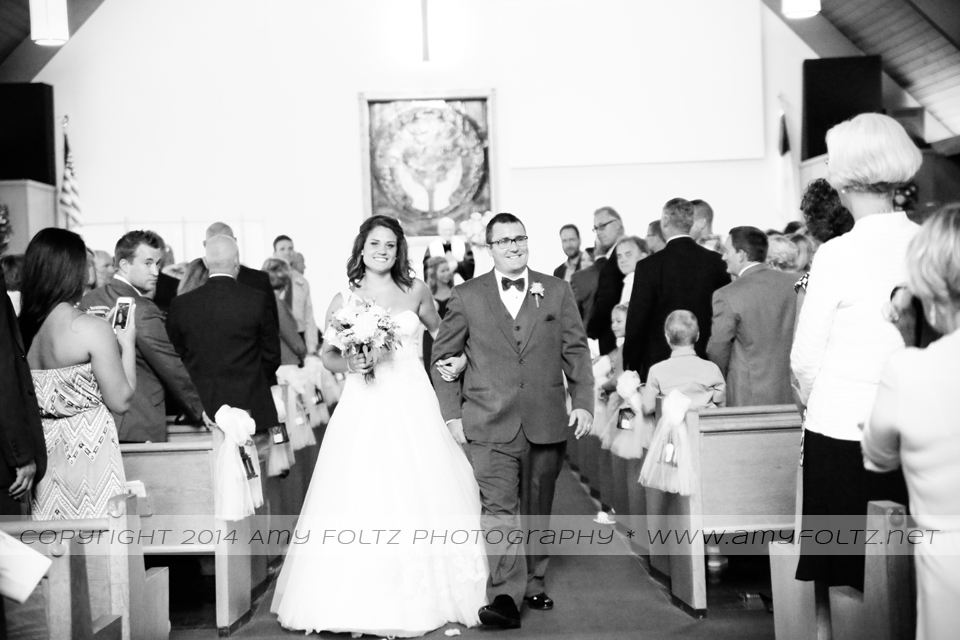 wedding ceremony at World Gospel Church in Terre Haute, Indiana