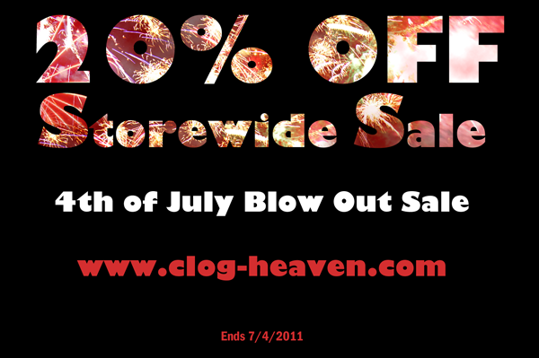 4th of July Sale Only at Clog-Heaven