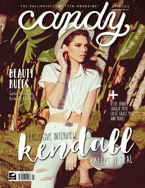 Fashion Model, @ Kendall Jenner - Candy Philippines, February 2016