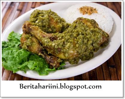 Resep masakan Ayam Bumbu Hijau Lampung