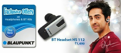 Lowest Price Deal: Blaupunkt BT HS 112 In-the-ear Headset worth Rs.1490 for Rs.339 Only @ Flipkart