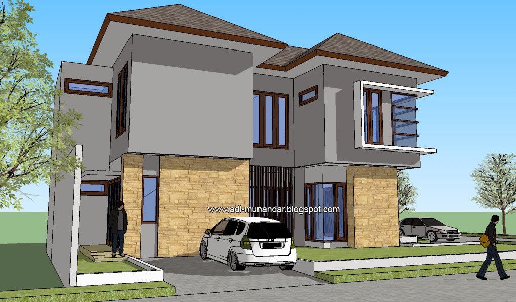 desain arsitektur rumah tropis moderen di pakuwon city