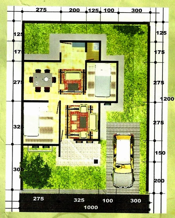 2014 minimalist house design drawings whitney houston for Minimalist house type 36
