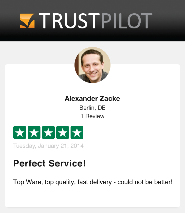Alexander Zacke 5 star Trustpilot Auctionata review