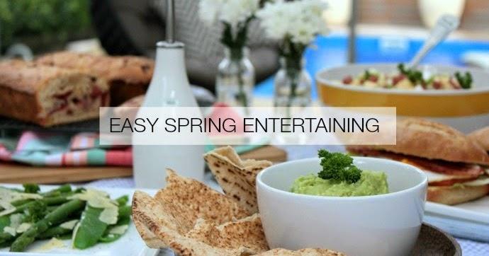 Easy spring for Easy entertaining tips