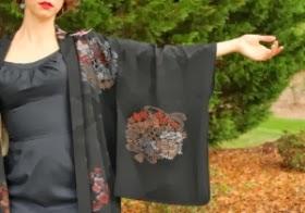 Vintage Kimono Sleeve Detail #vintage #fashion #kimono