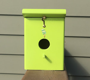 Handmade Keylime Outdoor Backyard Birdhouse $31.99 + shipping