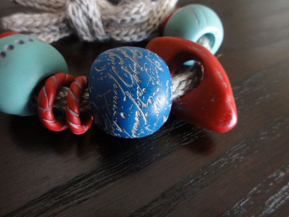 Paper Sensei Big Bead Polymer Clay And Knitted I Cord