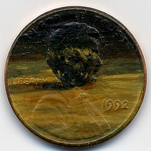 10-The-Unburning-Bush-1992-Artist-Jacqueline-L-Skaggs-Discarded-Pennies-Oil-Painting-on-Coins-www-designstack-co
