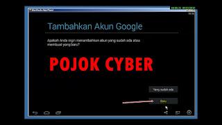 Klik Akun Google Baru