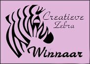 Winnaar Creatieve Zebra