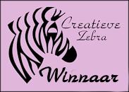 Winnaar Creatieve Zebra