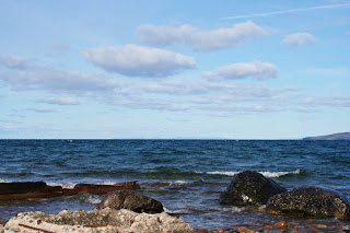 Lake Superior at Point Iroquois LIght, Bay Mills, MI