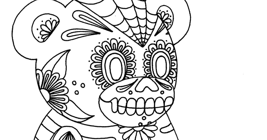 Yucca Flats N M Wenchkin S Coloring Pages Sugar Skull