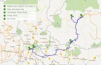 Bhutan Trip - Route Plan