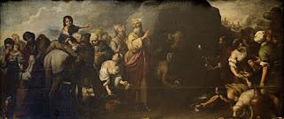 Moisés haciendo brotar el agua de la roca de Horeb 1667-70