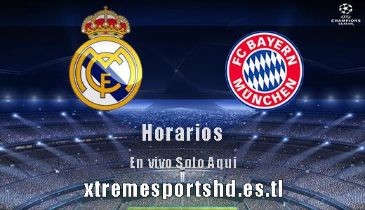 Horarios real madrid vs bayer munich xtremesportshd for A que hora juega el real madrid