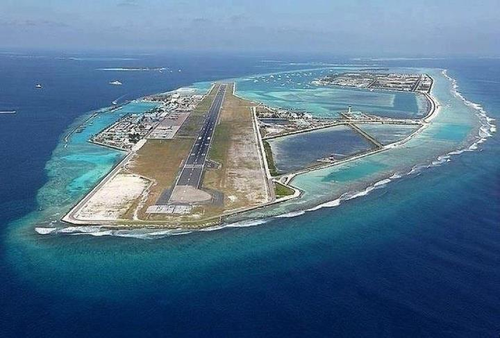 Airport on manmade island Maldives ~ EntertainmentEnter