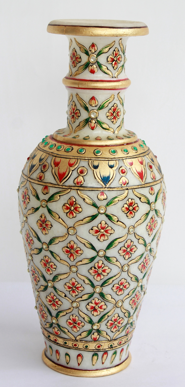Home decor handicrafts marble vases gold painted for Decoration stuff