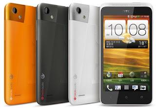 HTC One SC orange, hitam dan putih