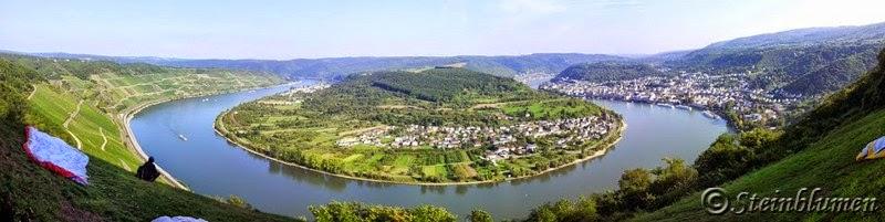 Die Rheinschleife im Mittelrheintal