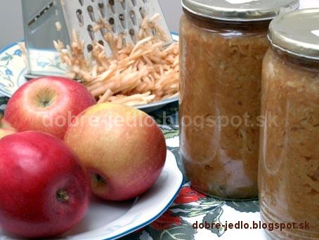 Strúhané jablká na zimu - recepty