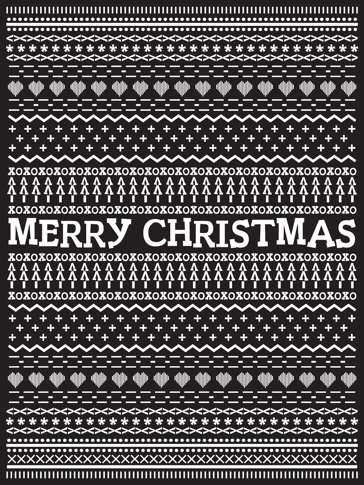 Fontaholic: FREEBIE FRIDAY: Ugly Sweater Typography Printable