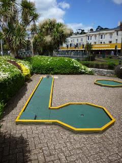 Mini Golf course at Tucks Plot in Dawlish, Devon