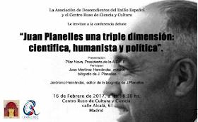 Juan Planelles una triple dimensión: científica, humanista y política