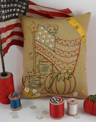 Americana Mice embroidery