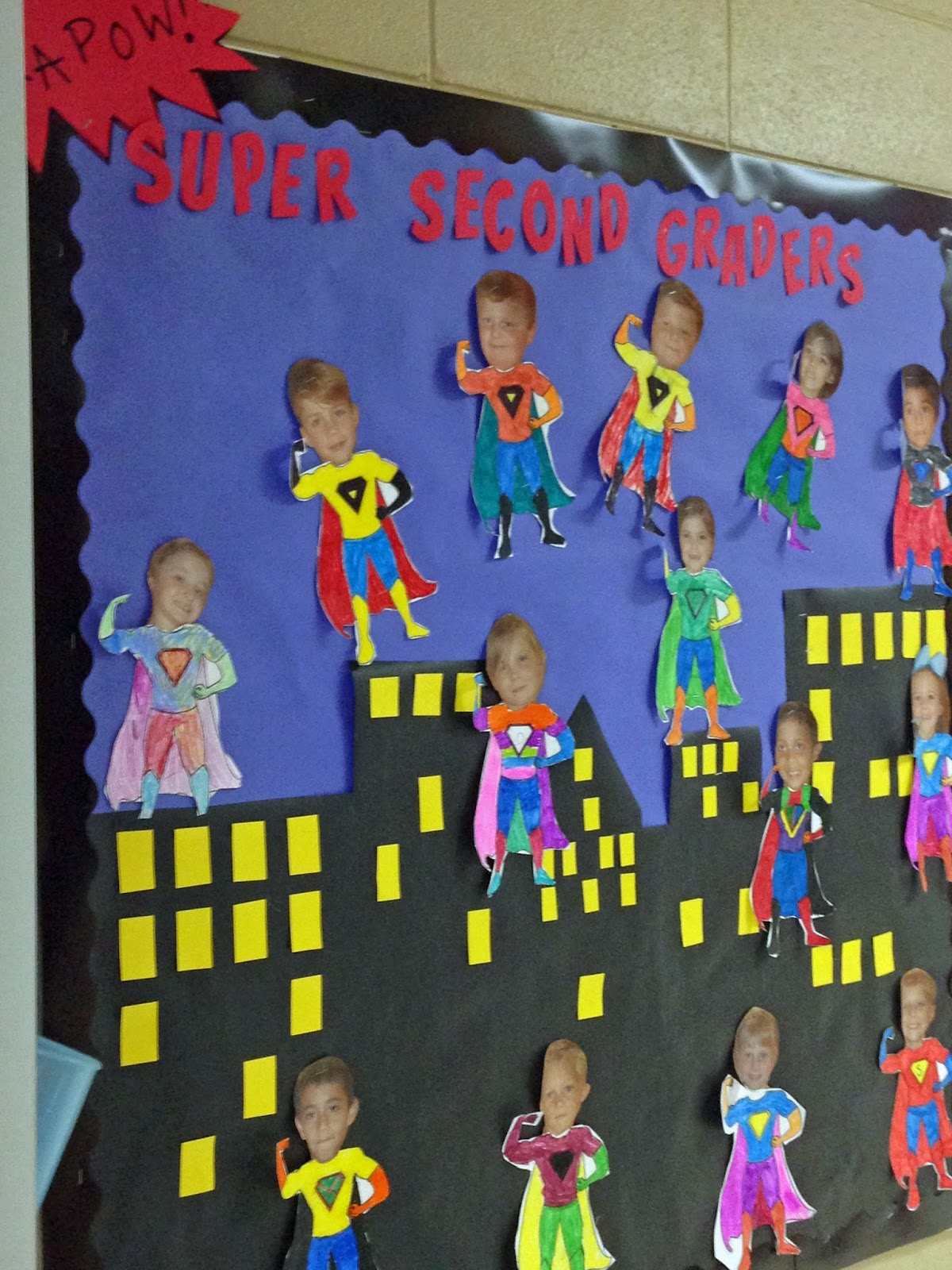 Bulletin board in the hallway that no one but my class ever sees :( !