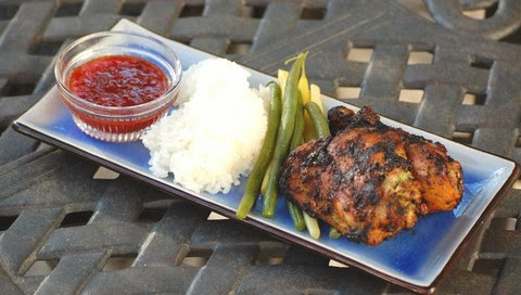Thai Grilled Chicken with Sticky Rice and Sweet Chili Sauce