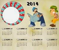 Moldura Chaves Em Desenho calendário