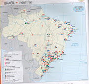 Mapa Brasilindústrias. Postado por professorwladimirjansenferreira às . (mapa brasil indãºstrias)