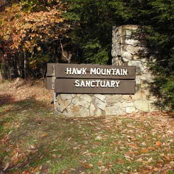 Hawk Mountain Sanctuary Entrance Sign Kempton Pennsylvania PA 19529