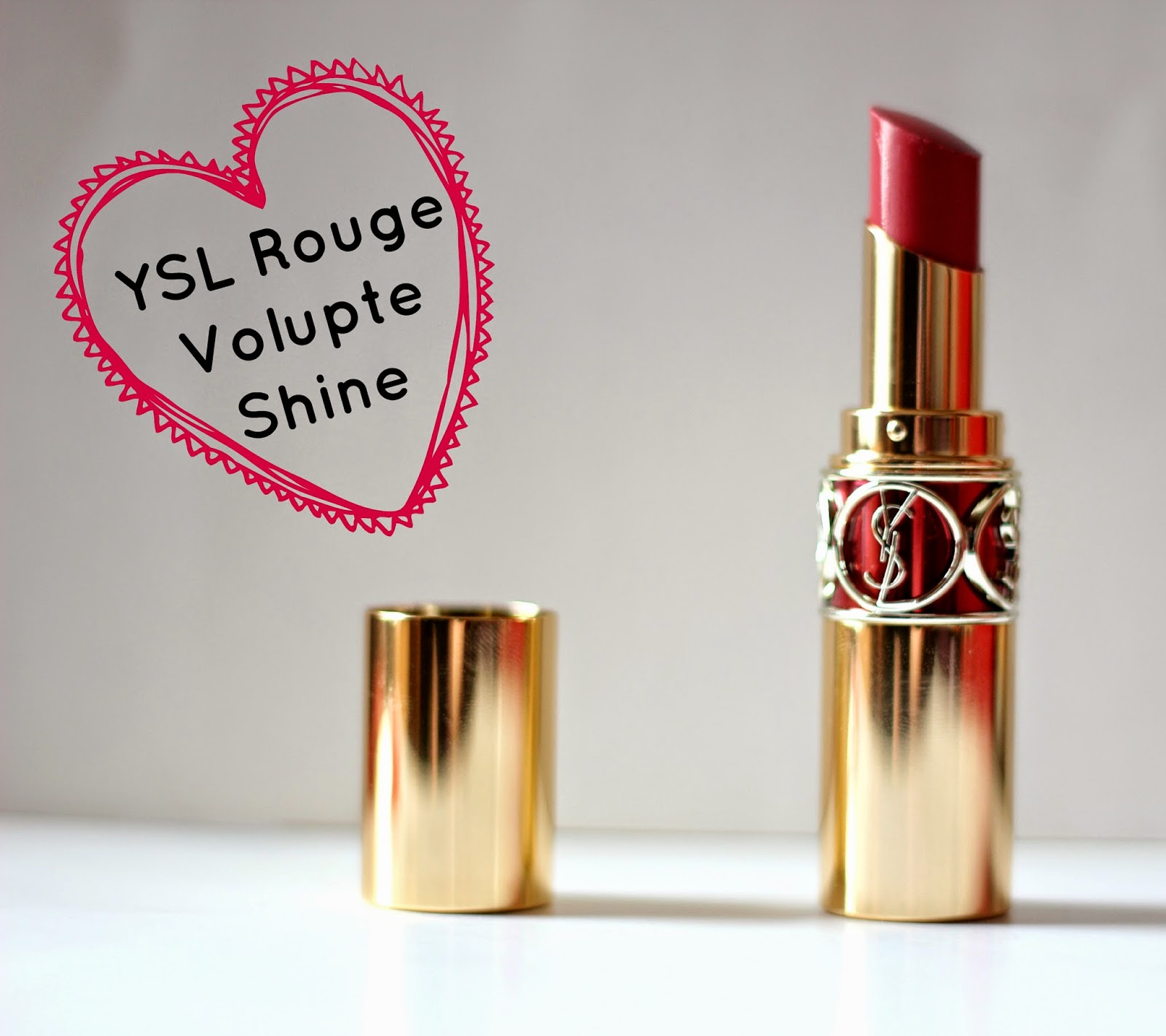 YSL rouge volupte shine lipstick rose in tension
