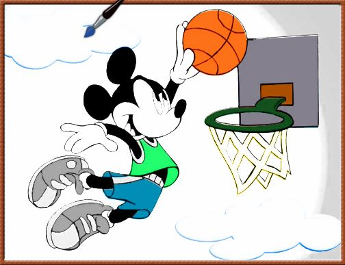 pintar online Mickey Basketball