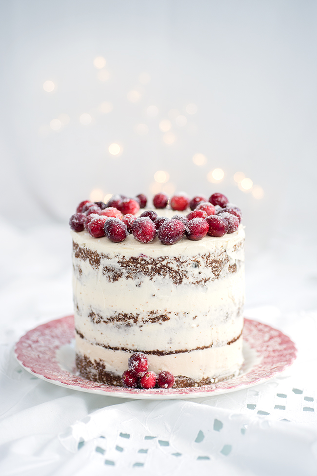 Festive Cranberry, Orange and Walnut Layer Cake