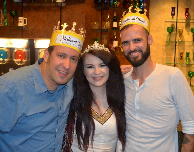 Lord Ahmad and Lord Dave with the Princess of Medieval Times Atlanta