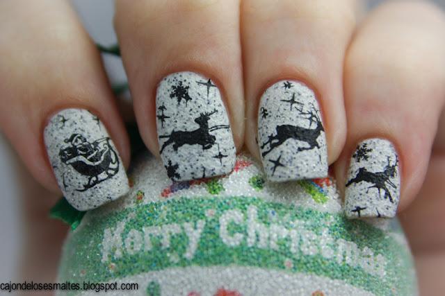 decoracion navidad Santa trineo y renos - estampado placas moyou