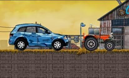 Traktörle Araba Çekme