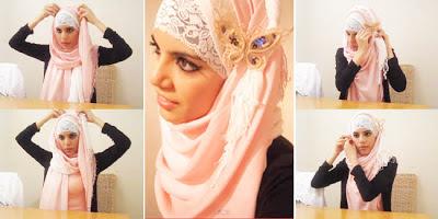 Cara Memakai Jilbab Pashmina Untuk Pesta
