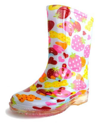 Generation19 Girls Rain Boots Sky Strawberry (Toddler/Little Kid)