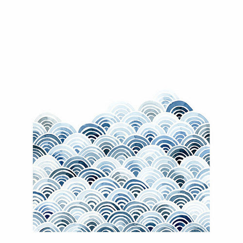 Yao Cheng Blue Waves print from Wicked and Weird blog