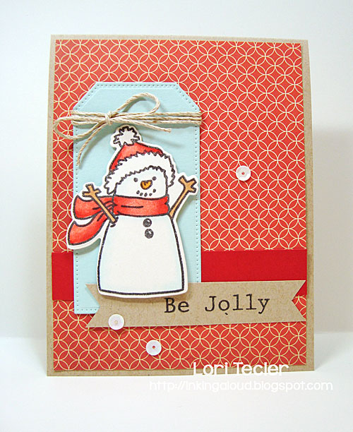 Be Jolly card-designed by Lori Tecler/Inking Aloud-stamps from Avery Elle